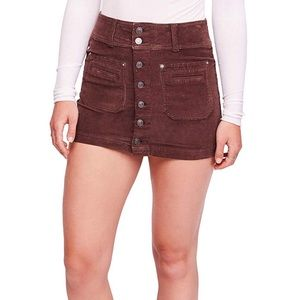 New Free People Women's Joanie Cord Solid Skirt 27
